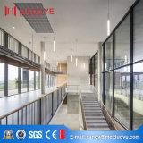 Mur rideau en verre isolant de profil en aluminium visible