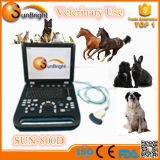 machine d'ultrason de l'ordinateur portatif 3D/machine vétérinaire bon marché portative d'ultrason