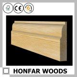 ホテルの建築プロジェクトのための建築材料の木製の幅木