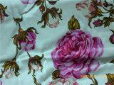 impresión de seda del satén del 19m/M en diseño de la flor