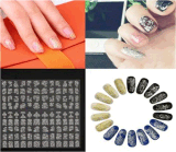o laço de prata da flor 3D projetou a etiqueta do prego das etiquetas da arte do prego