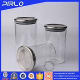 De hoge Luchtdichte Kruiken van het Glas Borosilicate met Metaal/Bamboe/Houten Deksel