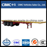 Cimc 40FT 3 Aanhangwagen van de Container van de As de Semi Flatbed
