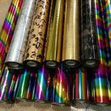 Papel metálico colorido do laser do envolvimento de presente