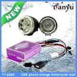 Impermeable motocicleta MP3 USB Sistema del lector de Carga Eléctrica función de alarma
