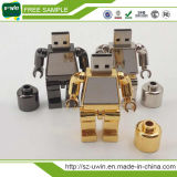 De hete Verkopende Gemerkte Aandrijving van de Pen van de Flits USB van de Stok van het Metaal Robot Gestalte gegeven
