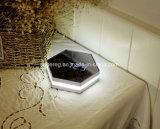 Reloj de alarma del indicador digital del espejo del reloj de pared de la luz de la noche del LED