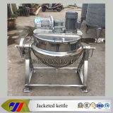 caldera de cocinar vestida de la calefacción de vapor 100L con el motor de la emulsión