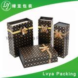 Pequeño rectángulo de papel de lujo de Packagings con el nombre de Custom Company