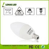 Ampoule E12 6W 120V d'ampoule de candélabres blanc chaud de 180 degrés (2700k), lumière équivalente de bougie de 60 de watt d'éclairage LED ampoules des ampoules DEL