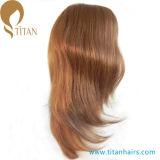 парик шнурка фронта человеческих волос девственницы 16inch 6# для женщин