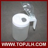 Frasco de petróleo em branco do vidro geado do Sublimation