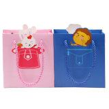 Los altos bolsas de papel con asas Calidad de impresión personalizada ilustraciones