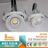 cardán ahorro de energía LED giratorio Downlight del poder más elevado 40W para la iluminación de los departamentos