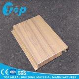Анодируя деревянным панель изогнутая зерном для плакирования стены