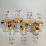 Cilindro de vidro redondo Vela Containers / Holders / Jars 4oz 5oz 10oz 16oz 24 oz