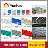 Telhadura ondulada do edifício do PVC do plástico