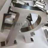 Letras escovadas não iluminadas do sinal 3D da letra do aço inoxidável no aço inoxidável