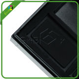 Schwarzer Faux-ledernes Papier-Geschenk-Verpackungs-Kasten