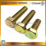 Kleur/de Gele Zink Geplateerde Bout van de Hexuitdraai met Volledige Ingepaste M6 M8