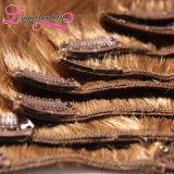 Grampo humano 100% malaio popular superior em extensões do cabelo