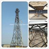 De staal Gegalvaniseerde Toren van het Staal van het Rooster van de Microgolf van Telecommunicatie Mobiele