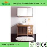Mobília francesa da cozinha da madeira contínua do estilo com linha do esmalte (WH-D900)