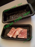 Des Carrefour&Walmart Supermarkt-Bildschirmanzeige-China-Behälter Kunststoffhersteller Meat&Food Industrie-kommerzieller preiswerter Schwarz-pp.