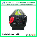 DC24V AC110/120V 5000W van de Omschakelaar van het Net met Digitale Vertoning (qw-M5000)