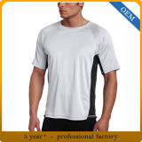 T-shirt bon marché 100% mince d'ajustement de sport de polyester pour les hommes
