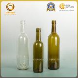 Bouteille en verre de boisson alcoolisée de couvercle à visser rond de Bvs de type de Bordeaux (0128)