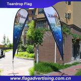 Drapeaux faits sur commande de larme de polyester d'impression polychrome, excellents drapeaux d'événement
