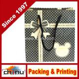 Saco de compra do papel do cartão de Wihte do papel de arte (210001)