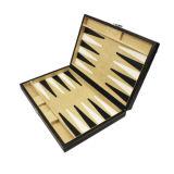 Backgammon da tampa do couro do plutônio grande