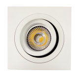 Lathe Aluminium GU10 MR16 Downlight inclinable carré Downlight Downlight (LT2303B)