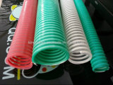 De kleurrijke Flexibele Slang van de Zuiging & van de Lossing van de Schroef van pvc Spiraalvormige