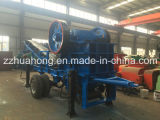 Muito Practical 350*750 Mobile Stone Crushing Plant com Discharging Conveyor