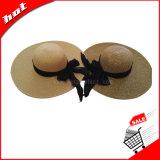 Sombrero de la mujer, sombrero de paja, sombrero de Sun, sombrero flojo, sombrero femenino