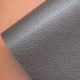 Кожа PU зерна Litchi ровная искусственная, мешок, упаковывая кожа