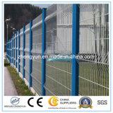 Frontière de sécurité galvanisée soudée enduite par PVC chaude de treillis métallique de fer de vente