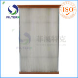 Washable плиссированный воздушный фильтр панели полиэфира