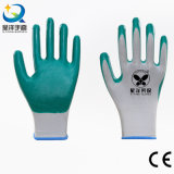 Nylon нитрил раковины 13gauge покрыл перчатки работы безопасности (N6020)