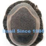 Dessus du cheveu attaché par main des hommes