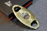 Acier inoxydable ultra-mince de Lubinski d'or et coupeurs de cigare de Silve et ciseaux (ES-LI-004)