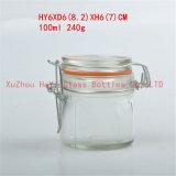frasco de vidro da selagem do café de vidro do frasco do alimento 100ml