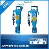 Máquina pneumática horizontal da broca de rocha do Airleg de Yt24 Yt27 Yt28 Yt29A para o projeto civil e a pedreira