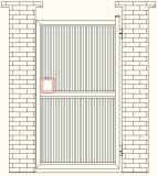 Cancello di alluminio dell'entrata di disegno tedesco con buona qualità