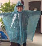 Kundenspezifischer Regen-Poncho des Farben-Regen-Poncho-0.02mm