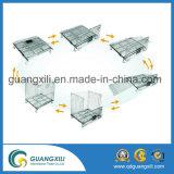Recipiente dobrável Foldable da pálete da gaiola do armazenamento do engranzamento de fio de aço