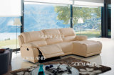 Ensemble de sofa de Recliner de tissu de Brown